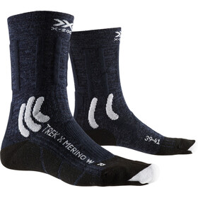 X-Socks Trek X Merino Calcetines Mujer, midnight blue/arctic white